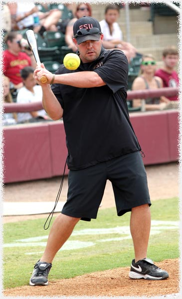 Craig Snider Assistant Softball Coach Texas A&M University Action Shot