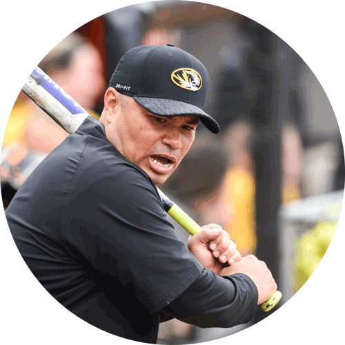 Chris Malveaux Assistant Softball Coach University of Missouri Action Shot